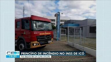 Princípio de incêndio em agência do INSS no interior - Confira mais notícias em g1.globo.com/ce