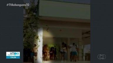 Vídeo mostra jovens bebendo e dançando apenas de roupas íntimas em campus da UFT - Vídeo mostra jovens bebendo e dançando apenas de roupas íntimas em campus da UFT