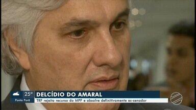 TRF rejeita recurso do MPF e absolve definitivamente ex-senador - O ex-senador Delcídio do Amaral foi absolvido, agora de forma definitiva, da acusação de tentar obstruir a Justiça, no caso envolvendo o ex-diretor da Petrobras, Nestor Cerveró.