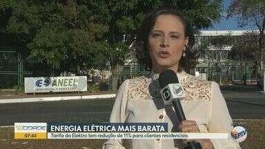 Elektro reduz em 11% tarifa para clientes residenciais - Nova cobrança entra em vigor nesta terça (27).