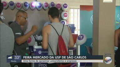 Feira Mercado da USP é realizada em São Carlos - Objetivo é aproximar universitários e empresas.
