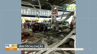 40% dos carros com GNV no Rio estão irregulares - Detran diz que faz operações diariamente e orienta motoristas sobre itens de segurança