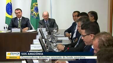 Governadores da Região Norte participam de encontro em Brasília - Eles conversaram com presidente.