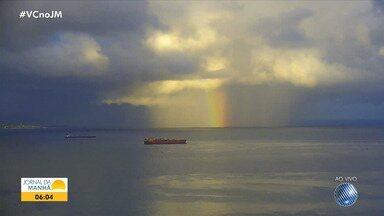 Veja a previsão do tempo para Salvador e outras cidades baianas nesta quarta-feira - Confira também as fotos do quadro 'Amanhecer' e a tábua de marés.