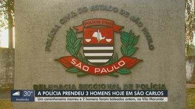 Polícia Militar prende três suspeitos envolvidos na morte de caminhoneiro em São Carlos - Segundo delegado, crime foi motivado por dívida de venda de três veículos.