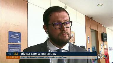 Lista de quem deve para Prefeitura de Ponta Grossa será publicada na sexta-feira (30) - Nomes serão publicados em Diário Oficial.