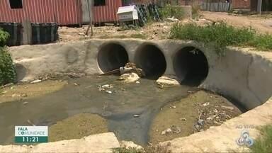 Moradores do Jorge Teixeira reclamam da falta de estrutura em ruas do bairro - População relata alagamentos em dias de chuva.