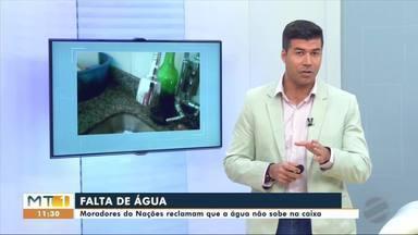 Moradores do Jardim das Nações reclamam que a água não sobe da caixa - Moradores do Jardim das Nações reclamam que a água não sobe da caixa