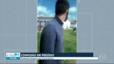 Vídeo mostra briga de detentos dentro de presídio em Canhotinho - Confusão aconteceu na manhã desta quarta-feira (28).