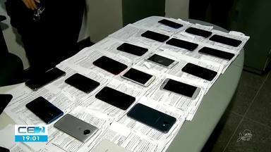 Polícia de Maracanaú consegue rastrear e recuperar 30 celulares - Confira mais notícias em g1.globo.com/ce