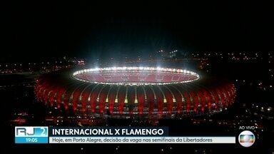 Flamengo e Internacional disputam vaga nas semifinais da Libertadores - Jogo é em Porto Alegre nesta quarta (28).
