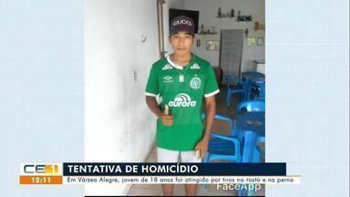 Jovem de 18 anos sofre tentativa de homicídio em Várzea Alegre - Saiba mais em g1.com.br/ce