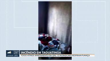 Incêndio atinge apartamento em Taguatinga nesta quinta (29) - Bombeiros socorreram quatro pessoas que passaram mal com a fumaça.