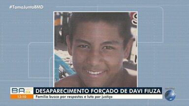 Família de vítima por desaparecimento forçado segue em busca de resposta e quer justiça - Davi Fiuza estava na frente de casa quando foi abordado por policiais militares e desapreceu.