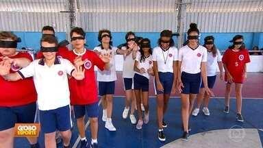 Alunos de escola em Olinda se colocam no lugar de atletas paraolímpicos - undefined