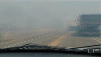 Fumaça dos incêndios no Tocantins coloca motoristas em risco nas estradas - PRF orienta motoristas a entrar em contato com o 191 para informar sobre casos de fumaça na pista e reforça alguns cuidados.