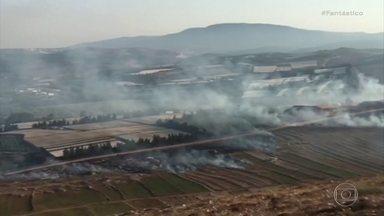 Hezbollah lança mísseis contra Israel - O grupo radical xiita hezbollah, do Líbano, lançou neste domingo (1º) mísseis contra o norte de Israel.
