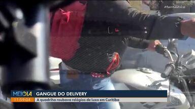 Gangue do delivery roubava relógios de luxo em Curitiba - Áudios mostram como os bandidos agiam. Polícia prendeu integrantes da quadrilha na semana passada.