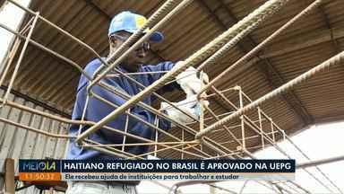 Haitiano refugiado em Ponta Grossa é aprovado em Matemática na UEPG - Ele contou com a ajuda de instituições da cidade para trabalhar e estudar.