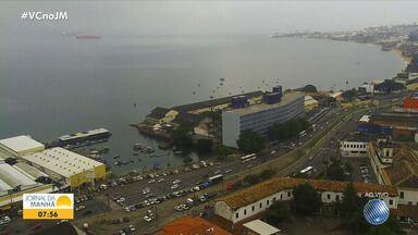 Saiba como está o trânsito em diversos pontos de Salvador no início desta segunda-feira - Condutores devem aumentar a atenção por causa da chuva que cai em diferentes regiões da cidade.