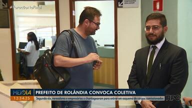 Prefeito de Rolândia convoca coletiva para apresentar denúncia contra vereadores - Segundo ele, vereadores e empresários o chantagearam para entrar em esquema de cargos comissionados.