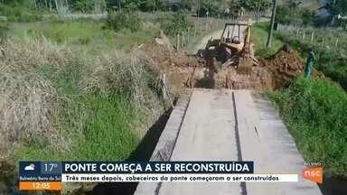 Ponte em Itapoá começa a ser construída - Ponte em Itapoá começa a ser construída