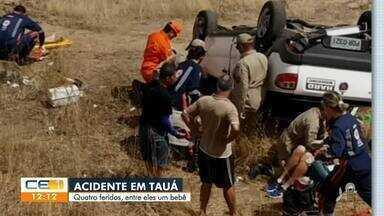 Acidente em Tauá deixa 4 feridos - Confira mais notícias em g1.globo.com/ce
