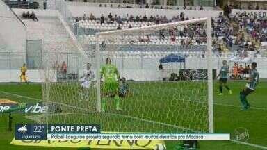 Na estreia de Kleina, Ponte vence Coritiba e encosta na briga pelo G-4 - Roger, em posição irregular, faz o único gol em Campinas; com o resultado, Macaca quebra sequência ruim na série B do Brasileiro.