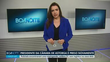 Presidente da Câmara de Astorga é preso novamente - Policiais encontraram uma espingarda, calibre 22, sem registro na casa dele