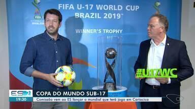 Troféu da Copa do Mundo Sub-17 é apresentado em Cariacica e Fifa aprova Kleber Andrade - Competição de base será realizada de 26 de outubro a 17 de novembro.