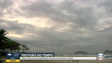 Veja como fica o tempo no Rio de Janeiro nesta terça-feira (3) - Tem possibilidade de chuva forte em alguns pontos no período da tarde.