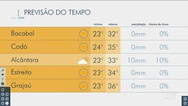 Veja as variações das temperaturas no Maranhão - Confira a previsão do tempo nesta terça-feira (3) em São Luís e também no interior do estado.