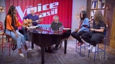 IZA conversa com Larissa e Luana - As cantoras se preparam para a batalha
