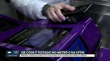 QR code é testado no metrô e na CPTM - Bilhetes unitários podem ser comprados com cartões de crédito e débito.