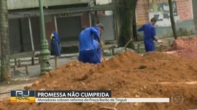 O RJ Móvel foi a Nova Iguaçu, nessa quarta-feira - Os moradores querem a reforma da praça Barão de Tinguá