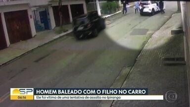 Homem é baleado na cabeça após tentativa de assalto no Ipiranga, na Zona Sul de SP - Caso aconteceu na tarde desta quarta-feira (4) quando o homem estava indo buscar o filho na escola.