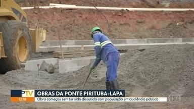Obra da ponte Pirituba-Lapa começa a sair do papel mesmo sem audiência pública - As obras da ligação Norte-Oeste, avaliada em R$ 400 milhões, começam a sair do papel mesmo sem ter sido discutida com a população.