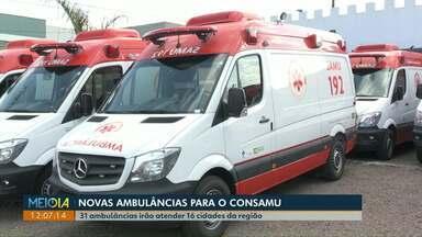 Estado não tem prazo para realização de concurso para médicos do Hospital Universitário - Secretário de Saúde do Paraná comentou sobre o assunto durante entrega de 29 ambulâncias em Cascavel. Novos veículos vão para mais de 15 cidades da região, atendidas pelo Consamu.