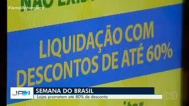 Goianos de olho na Semana dos Descontos do Brasil e na nova 'Black Friday' - Em Goiânia, lojas já oferecem descontos que podem chegar a 60%.