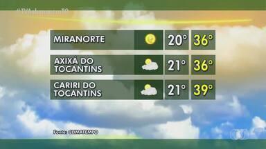 Veja a previsão do tempo para cidades do Tocantins - Veja a previsão do tempo para cidades do Tocantins