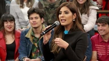 Serginho conversa com Andréia Sadi - A jornalista mostra momentos marcantes de seu programa