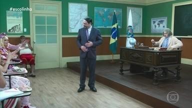 Aldemar Vigário explica com nasceu o 'Cinema Mudo' - O aluno tenta levar uma boa nota com Professor Raimundo