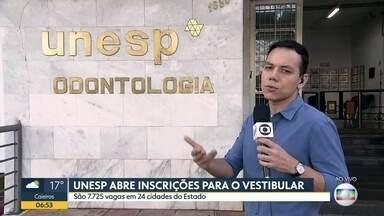 Inscrições abertas para o vestibular da Unesp - São 7.725 vagas em 24 cidades do estado