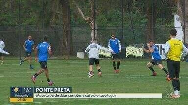 Macaca perde duas posições e cai para oitavo lugar - Ponte está três pontos atrás do Coritiba, que ocupa o primeiro lugar na Série B.