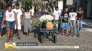 Famílias se despedem de dois moradores mortos durante operação no Complexo da Maré - Parentes de Pedro de Sousa e Lucas Rodrigues denunciam descaso, demora na remoção dos corpos e falta de perícia