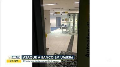 Banco é alvo de ataque em Umirim - Saiba mais em g1.com.br/ce