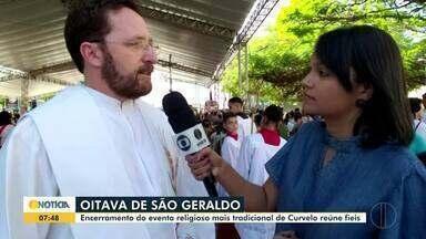 Oitava de São Geraldo termina em Curvelo - O encerramento do evento religioso, atraiu fiéis para a celebração.