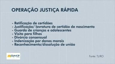 Triagens para Operação Justiça Rápida tem data marcada em Ji-Paraná - Audiências estão previstas para novembro