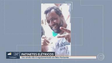 Homem morre em BH ao cair de patinete elétrico no fim de semana - Roberto Pinto Batista Júnior tinha 43 anos e morreu no hospital, na noite de sábado. Ele bateu a cabeça contra um bloco de concreto que separa a ciclovia na Avenida Paraná, no centro de Belo Horizonte.