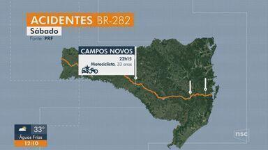 Sete pessoas morrem em rodovias de Santa Catarina no final de semana - Sete pessoas morrem em rodovias de Santa Catarina no final de semana
